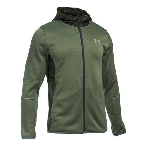Mens Under Armour Swacket Fullzip Hoodie Casual Jackets - Rough/Army Green L