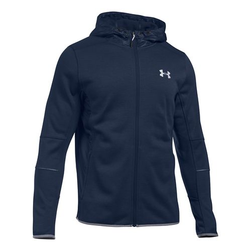 Mens Under Armour Swacket Fullzip Hoodie Casual Jackets - Midnight Navy XXL