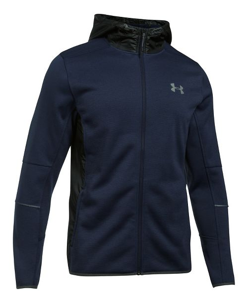 Mens Under Armour Swacket Fullzip Hoodie Casual Jackets - Midnight Navy 5X