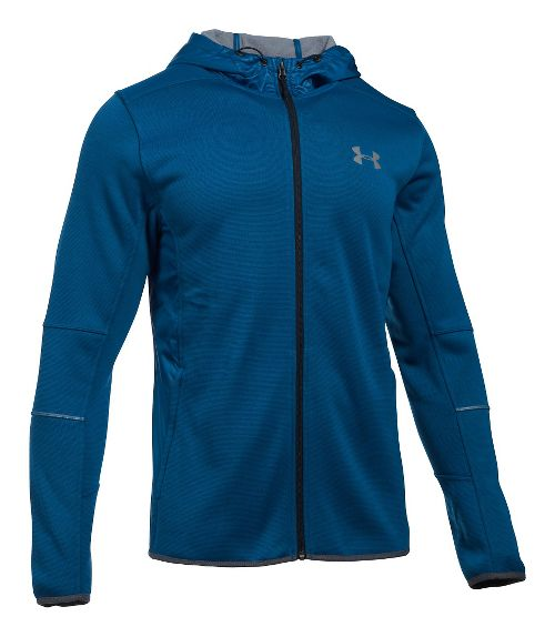 Mens Under Armour Swacket Fullzip Hoodie Casual Jackets - Heron/Steel L