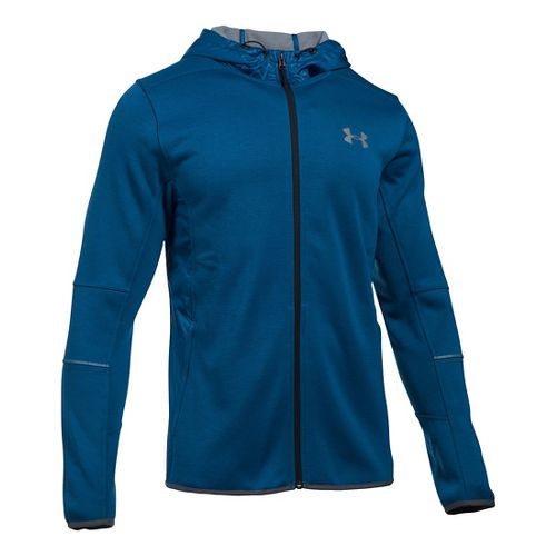 Mens Under Armour Swacket Fullzip Hoodie Casual Jackets - Heron/Steel 3X