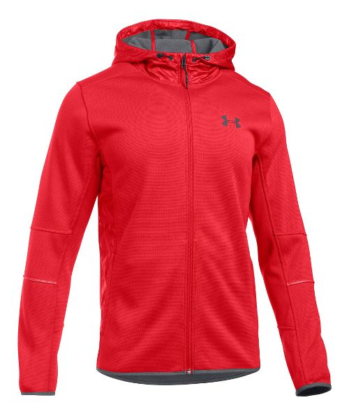 Mens Under Armour Swacket Fullzip Hoodie Casual Jackets - Red/Graphite S