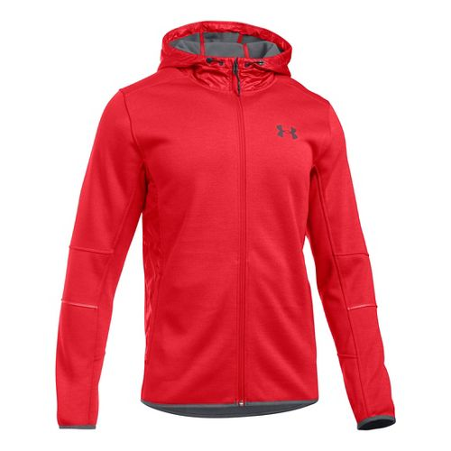 Mens Under Armour Swacket Fullzip Hoodie Casual Jackets - Red/Graphite XXL