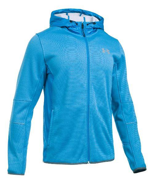 Mens Under Armour Swacket Fullzip Hoodie Casual Jackets - Brilliant Blue/Grey XL