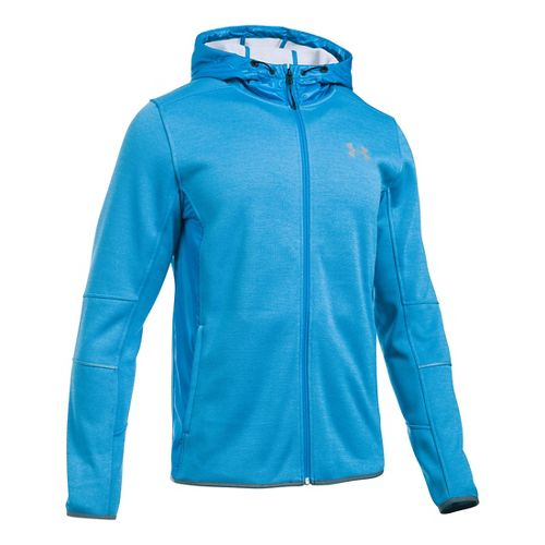 Mens Under Armour Swacket Fullzip Hoodie Casual Jackets - Brilliant Blue/Grey M