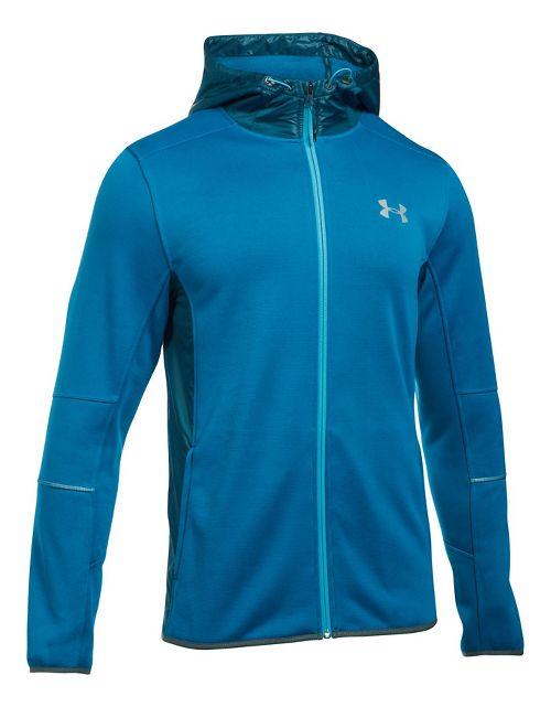 Mens Under Armour Swacket Fullzip Hoodie Casual Jackets - Cruise Blue/True Ink XXL
