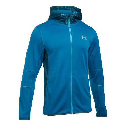 Mens Under Armour Swacket Fullzip Hoodie Casual Jackets - Cruise Blue/True Ink L