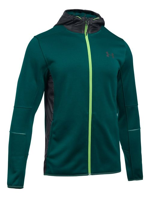 Mens Under Armour Swacket Fullzip Hoodie Casual Jackets - Arden Green/Black L