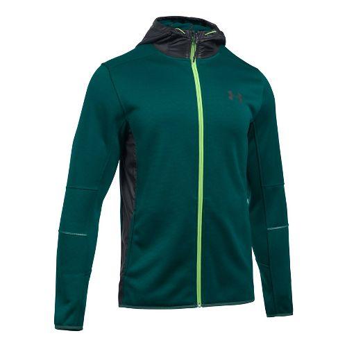 Mens Under Armour Swacket Fullzip Hoodie Casual Jackets - Arden Green/Black XL