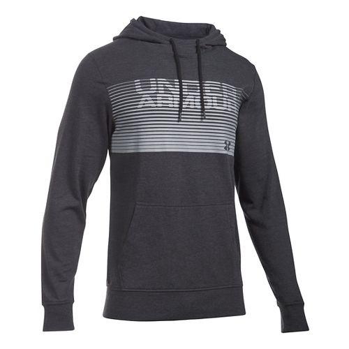 Mens Under Armour Triblend Striped Hoodie & Sweatshirts Technical Tops - Asphalt Heather M