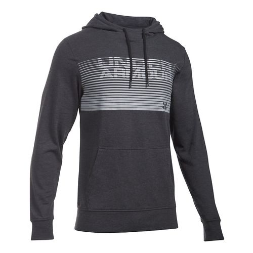 Mens Under Armour Triblend Striped Hoodie & Sweatshirts Technical Tops - Asphalt Heather S