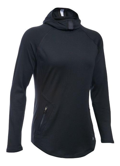 Womens Under Armour No Breaks Balaclava Half-Zips & Hoodies Technical Tops - Black S