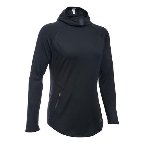 Womens Under Armour No Breaks Balaclava Hoodie & Sweatshirts Technical Tops - Black L