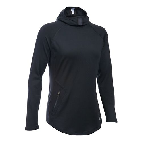 Womens Under Armour No Breaks Balaclava Half-Zips & Hoodies Technical Tops - Black M