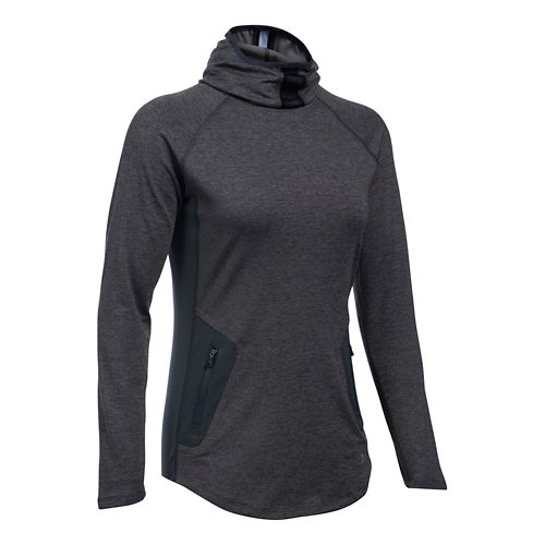 Womens Under Armour No Breaks Balaclava Half-Zips & Hoodies Technical Tops - Midnight ...
