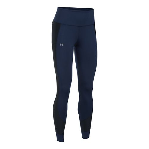 Womens Under Armour No Breaks Run Legging Tights & Leggings - Midnight L