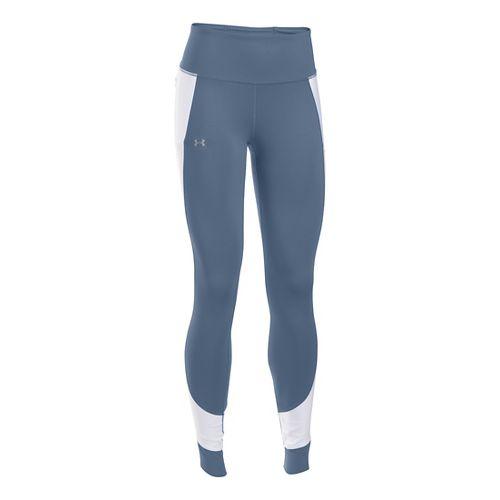 Womens Under Armour No Breaks Run Legging Tights & Leggings - Aurora Purple XL