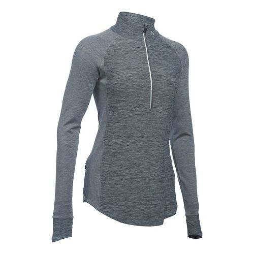 Womens Under Armour Layered Up Half-Zips & Hoodies Technical Tops - Carbon Heather M