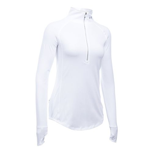 Womens Under Armour Layered Up Half-Zips & Hoodies Technical Tops - White M