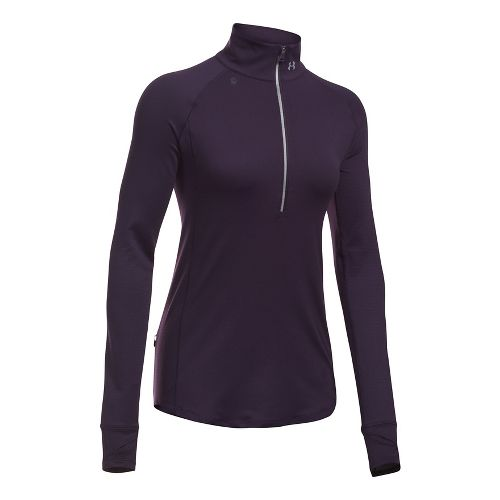 Womens Under Armour Layered Up Half-Zips & Hoodies Technical Tops - Imperial Purple L