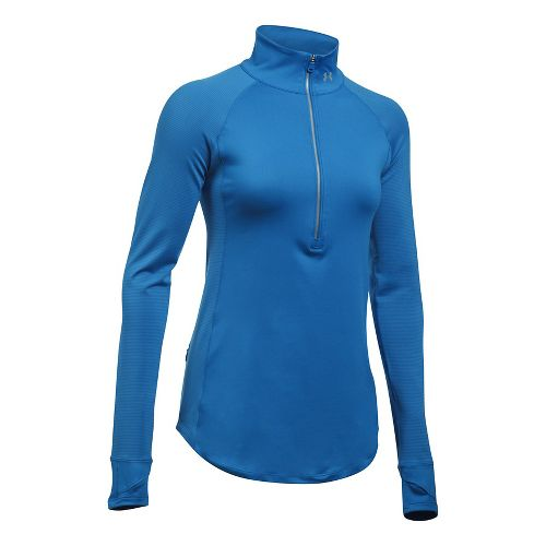 Womens Under Armour Layered Up Half-Zips & Hoodies Technical Tops - Mediterranean L