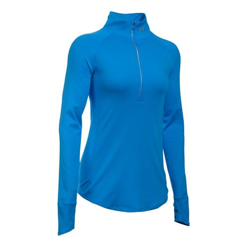 Womens Under Armour Layered Up Half-Zips & Hoodies Technical Tops - Water L