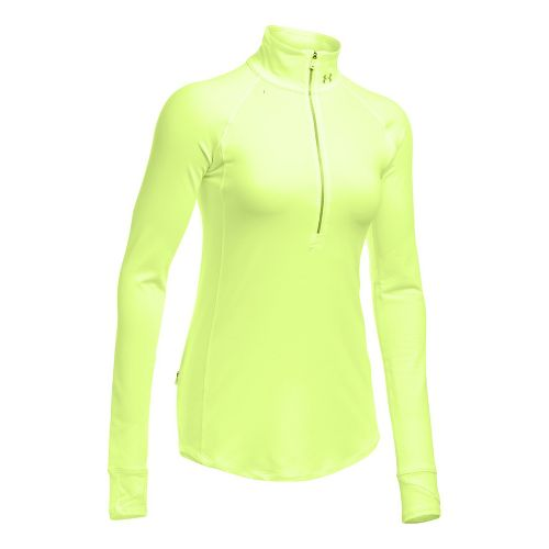 Womens Under Armour Layered Up Half-Zips & Hoodies Technical Tops - Pale Moonlight S