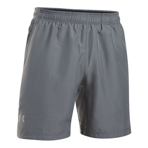 Mens Under Armour Launch 2-in-1 Shorts - Graphite M