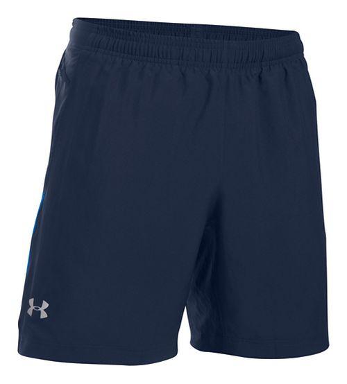 Mens Under Armour Launch 2-in-1 Shorts - Midnight Navy XXL
