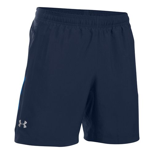 Mens Under Armour Launch 2-in-1 Shorts - Midnight Navy XXL