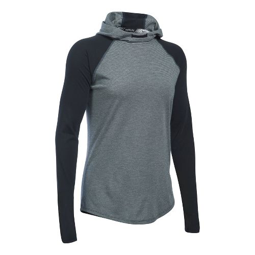 Womens Under Armour Streaker Half-Zips & Hoodies Technical Tops - Black S