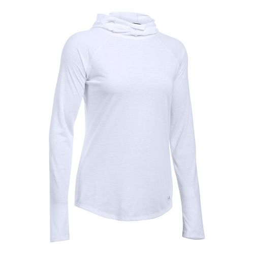 Womens Under Armour Streaker Half-Zips & Hoodies Technical Tops - White XL