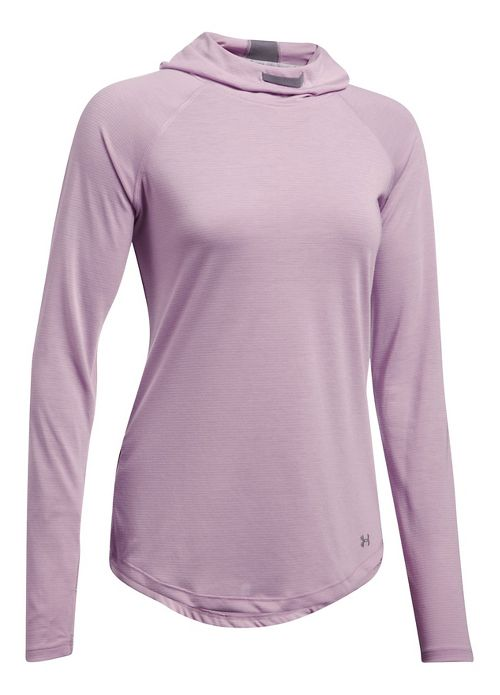 Womens Under Armour Streaker Half-Zips & Hoodies Technical Tops - Fresh Orchid S