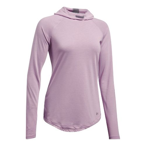 Womens Under Armour Streaker Half-Zips & Hoodies Technical Tops - Fresh Orchid XL
