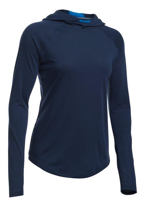 Womens Under Armour Streaker Half-Zips & Hoodies Technical Tops - Midnight Navy XL