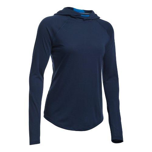 Womens Under Armour Streaker Hoodie & Sweatshirts Technical Tops - Midnight Navy L