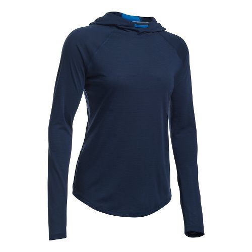 Womens Under Armour Streaker Hoodie & Sweatshirts Technical Tops - Midnight Navy S