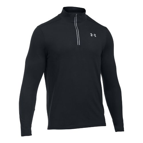 Mens Under Armour Streaker 1/4 Zip Half-Zips & Hoodies Technical Tops - Black L