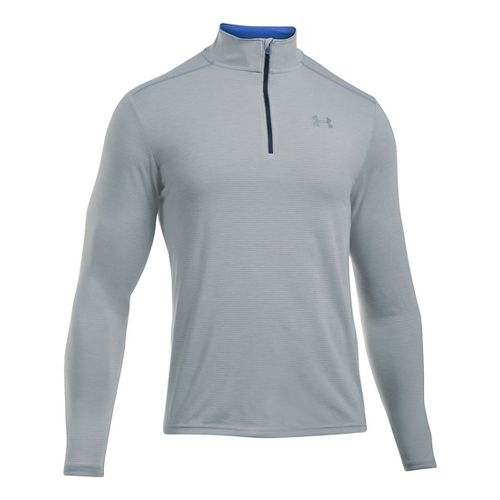 Mens Under Armour Streaker 1/4 Zip Long Sleeve Technical Tops - Carbon Heather L