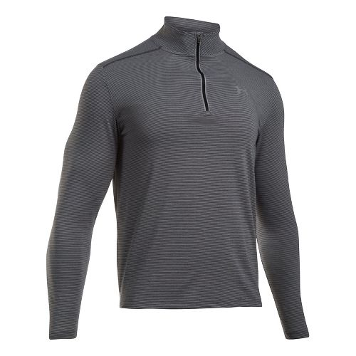 Mens Under Armour Streaker 1/4 Zip Half-Zips & Hoodies Technical Tops - Carbon Heather L ...