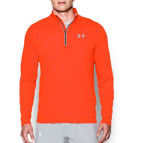 Mens Under Armour Streaker 1/4 Zip Half-Zips & HoodiesTechnical Tops - Phoenix Fire S