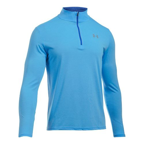 Mens Under Armour Streaker 1/4 Zip Half-Zips & HoodiesTechnical Tops - Carolina Blue XXL