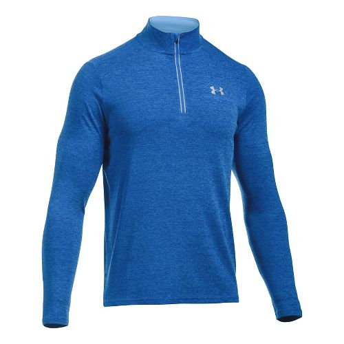 Mens Under Armour Streaker 1/4 Zip Half-Zips & HoodiesTechnical Tops - Blue Marker M