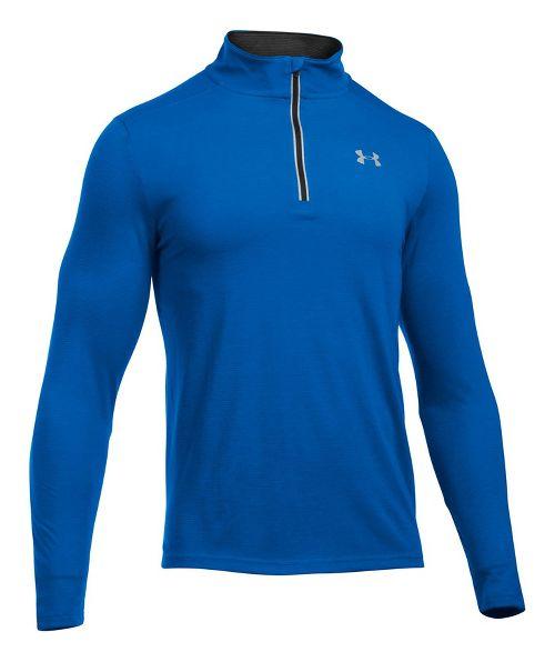 Mens Under Armour Streaker 1/4 Zip Half-Zips & Hoodies Technical Tops - Ultra Blue XXL