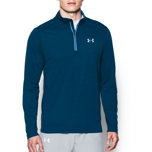 Mens Under Armour Streaker 1/4 Zip Long Sleeve & Hoodies Technical Tops - Blackout Navy ...