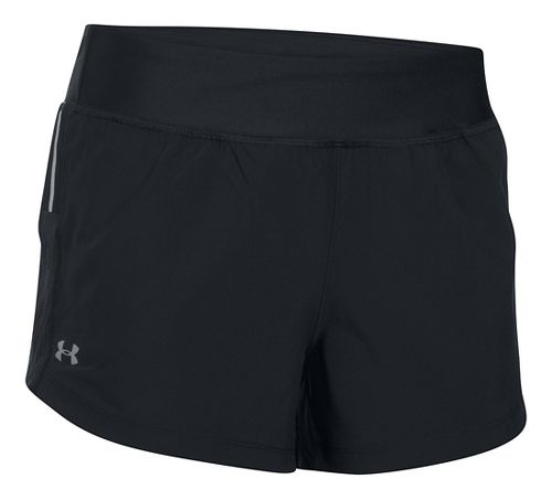 Womens Under Armour Stretch Woven Lined Shorts - Black S