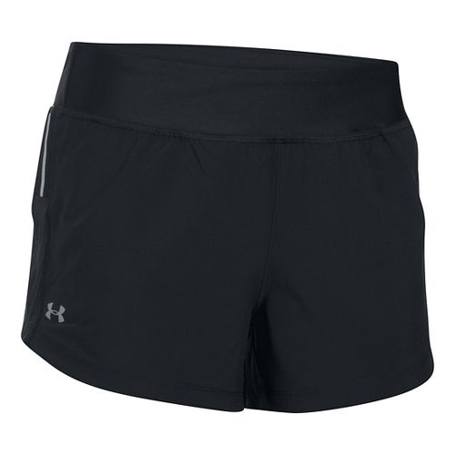 Womens Under Armour Stretch Woven Lined Shorts - Black L