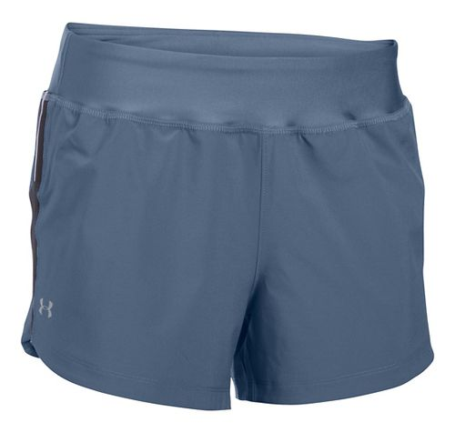 Womens Under Armour Stretch Woven Lined Shorts - Aurora Purple S
