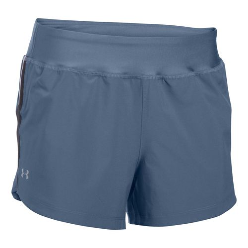 Womens Under Armour Stretch Woven Lined Shorts - Aurora Purple XS
