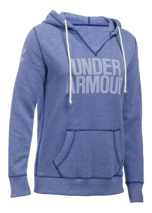Womens Under Armour Favorite Fleece Popover Hoodie & Sweatshirts Technical Tops - Heron M
